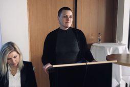 Sonja Einarsdóttir á málþinginu í dag.