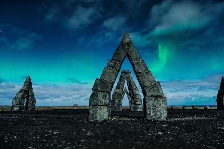 The Arctic Henge near Raufarhöfn, North Iceland.