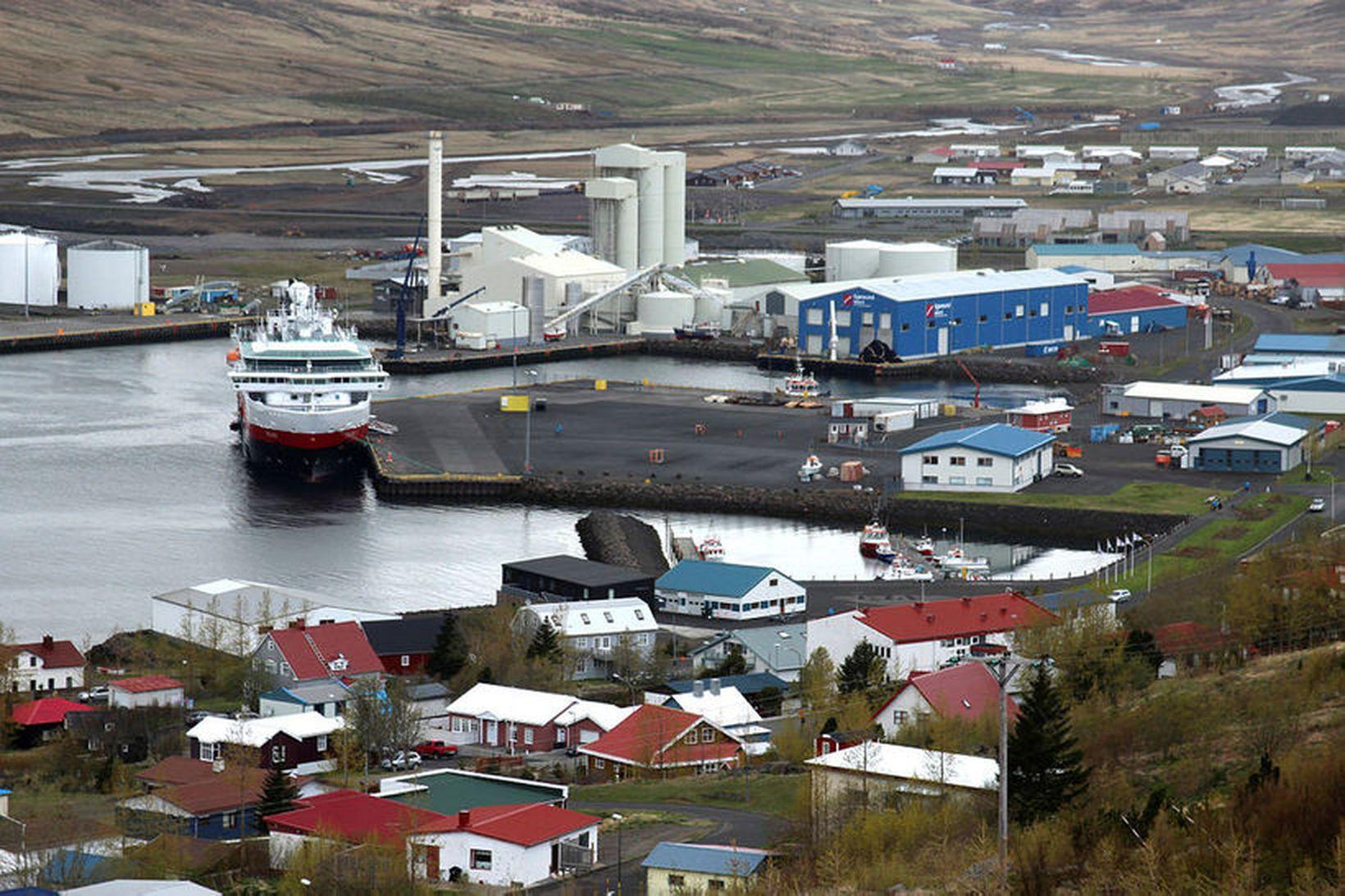 Horft yfir Eskifjörð í Fjarðabyggð.