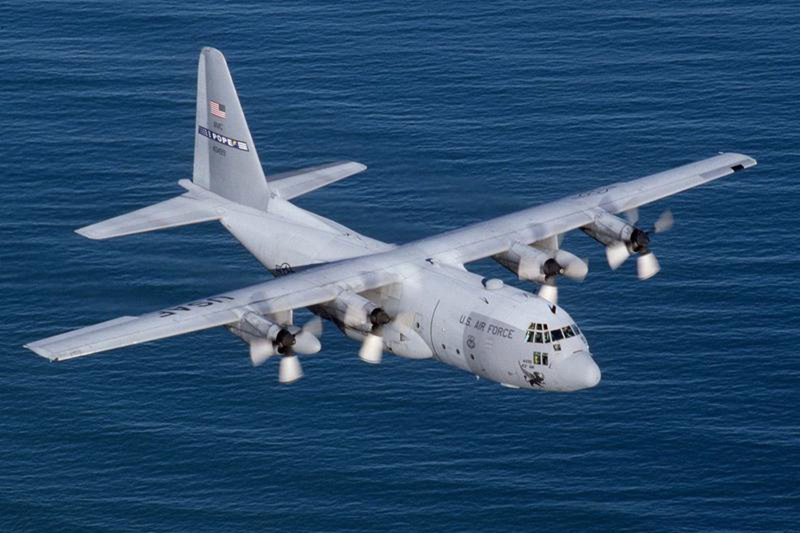Vélin sem hvarf er af gerðinni Hercules C-130, líkt og …