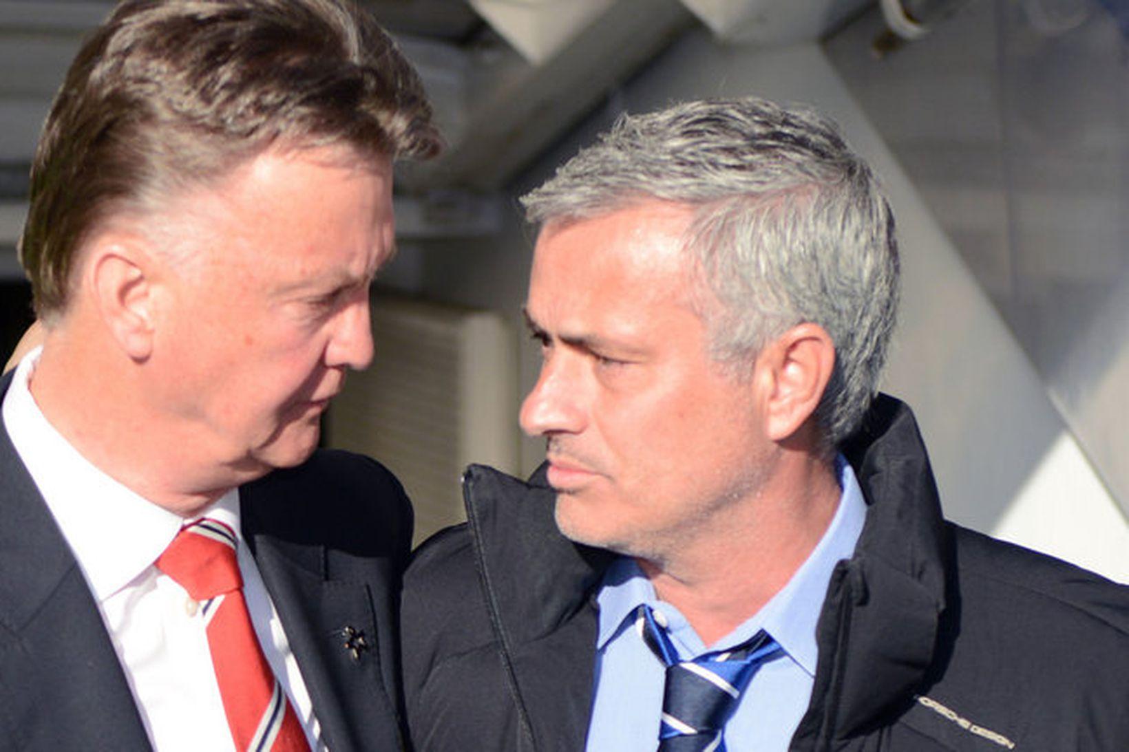 Louis van Gaal og José Mourinho störfuðu saman hjá FC …