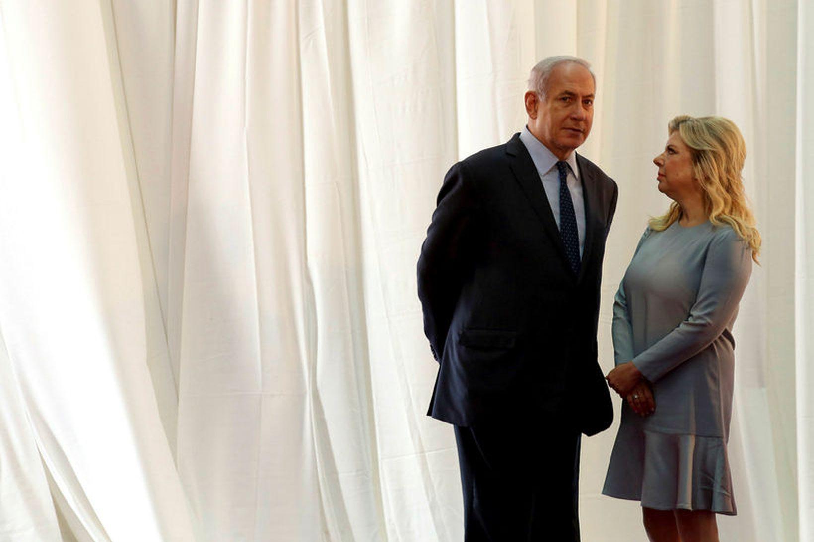 Sara og Benjamín Netanjahú.