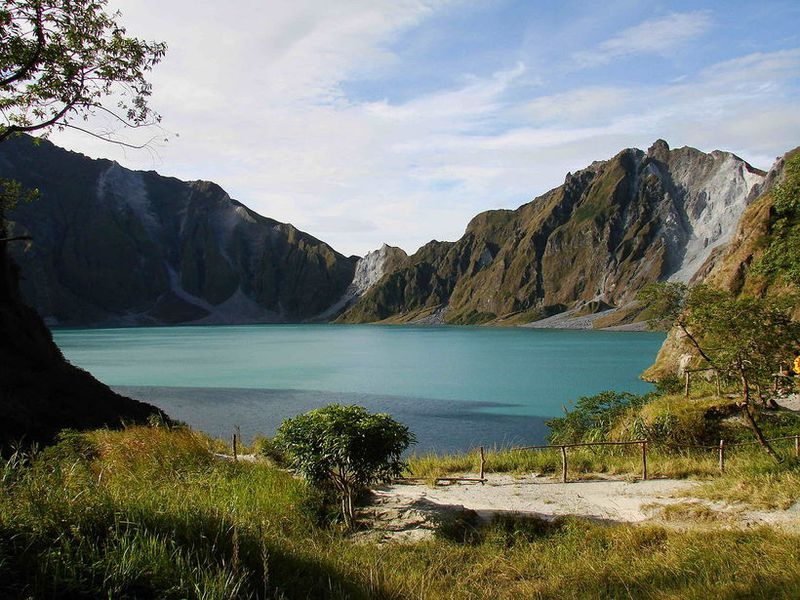 Lake Pinatubo in the Philippines.