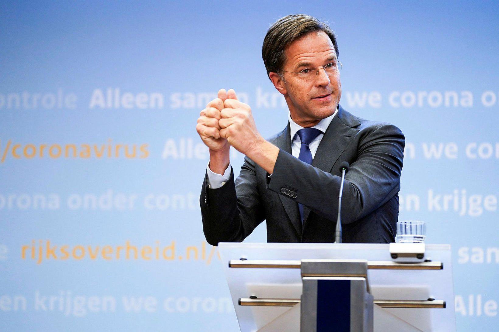 Mark Rutte, forsætisráðherra Hollands.