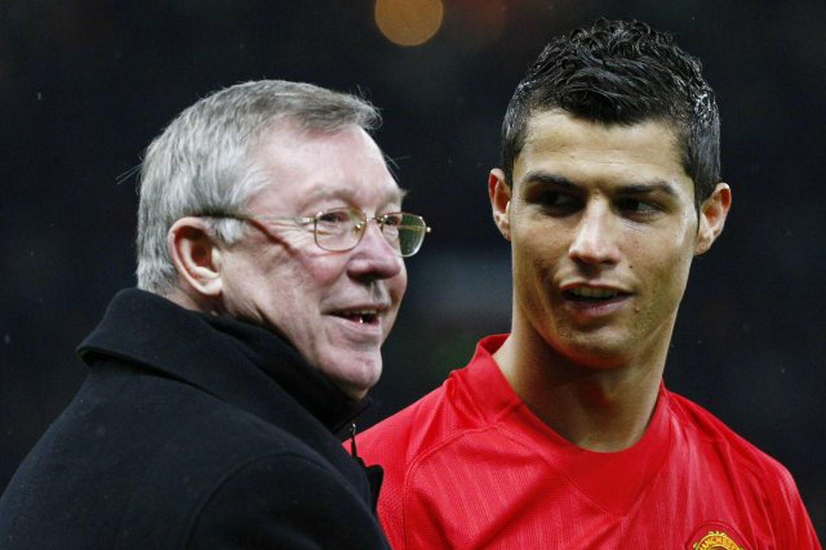 Sir Alex Ferguson og Cristiano Ronaldo.