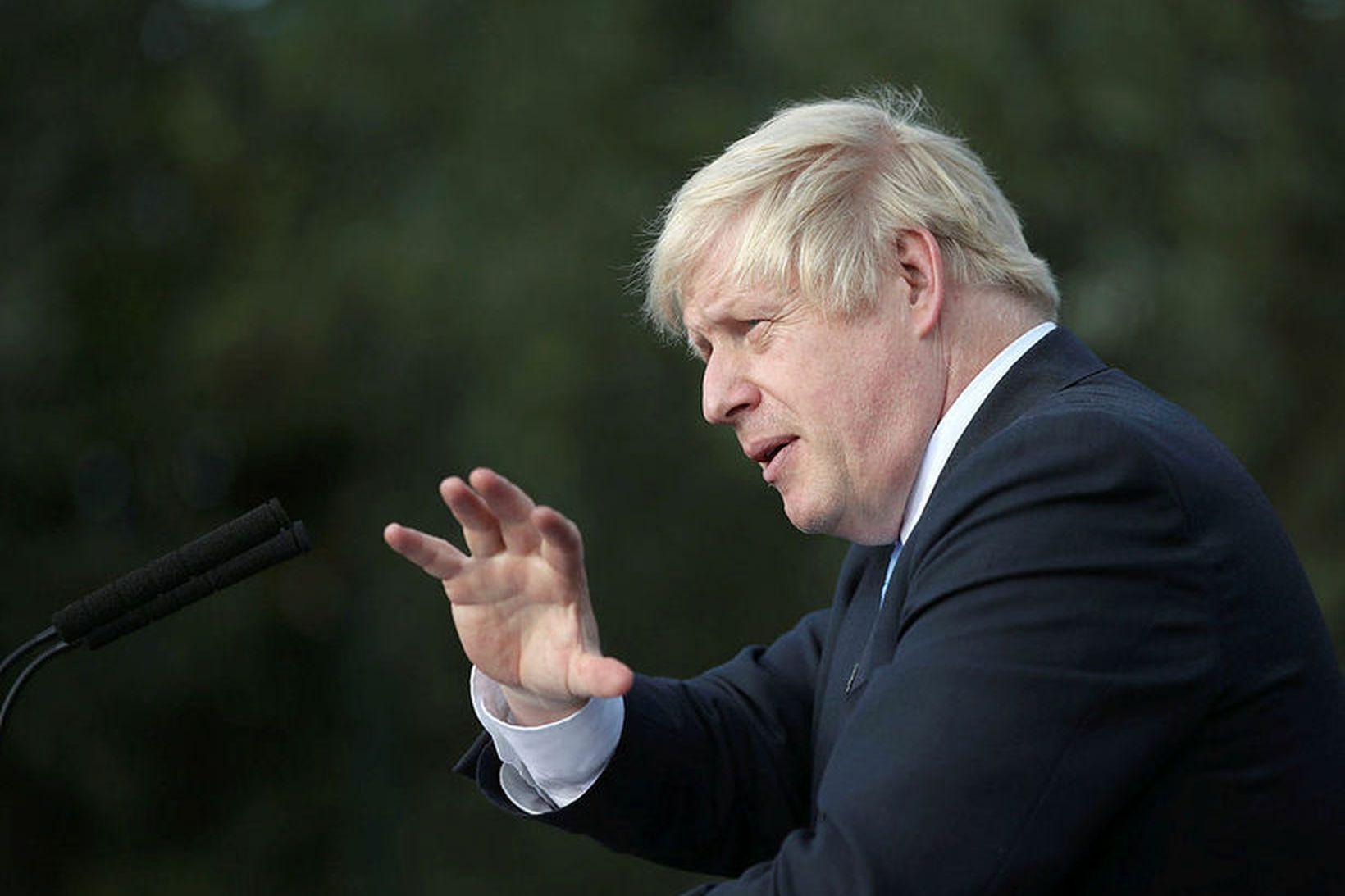 Boris Johnson hefur sagt að hann vilji fremur liggja dauður …