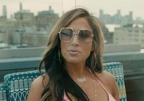 Jennifer Lopez í hlutverki sínu í kvikmyndinni Hustlers.