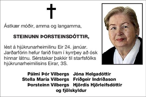 Steinunn Þorsteinsdóttir,
