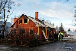 Frá Kirkjuvegi á Selfossi, þar sem bruninn kom upp í lok október á síðasta ári.