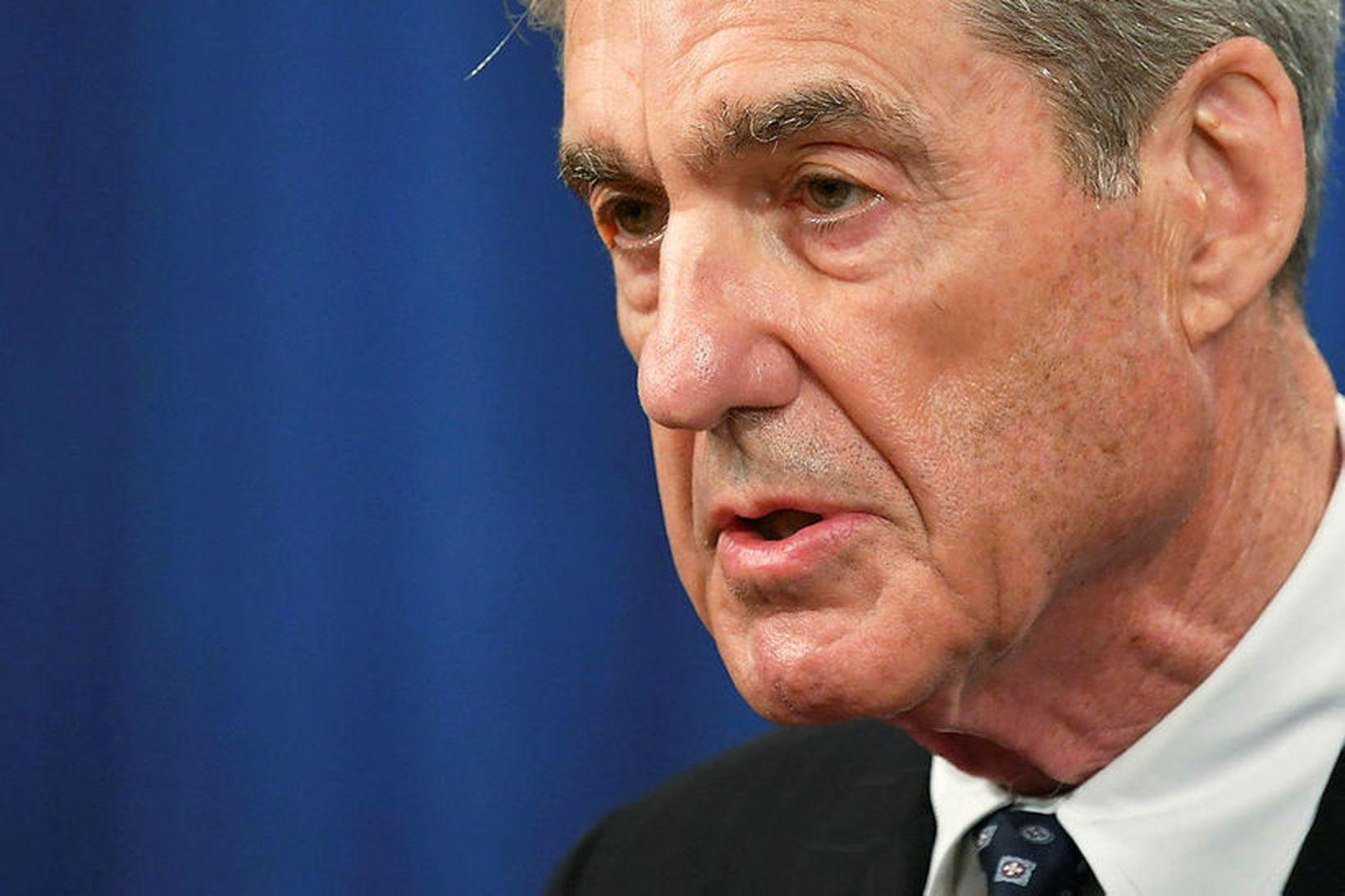Robert Mueller, sérstakur saksóknari FBI. Dómsmálaráðuneytið segir hann aðeins eiga …