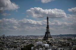 Eiffel-turninn í París.