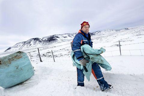 Um 2000 tonn af heyrúlluplasti fellur til á Íslandi á ári.