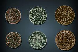 Myndin sýnir myntir frá tíma víkinga, þó ekki þær sem fundust í Herefordskíri árið 2015.