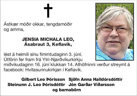 Jensia Michala Leo,