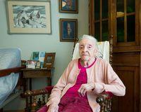 Guðrún Straumfjörð celebrates her birthday at the Sóltún nursing home where she will be indulging in cakes and coffee.