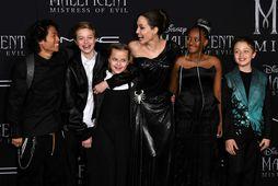 Angelina Jolie og Maddox Chivan Jolie-Pitt, Shiloh Nouvel Jolie-Pitt, Vivienne Marcheline Jolie-Pitt, Zahara Marley Jolie-Pitt ...