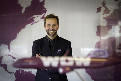 CEO of WOW air, Skúli Mogensen.