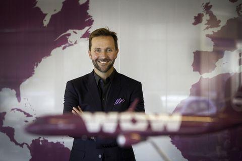 CEO of WOW air, Skúli Mogensen.