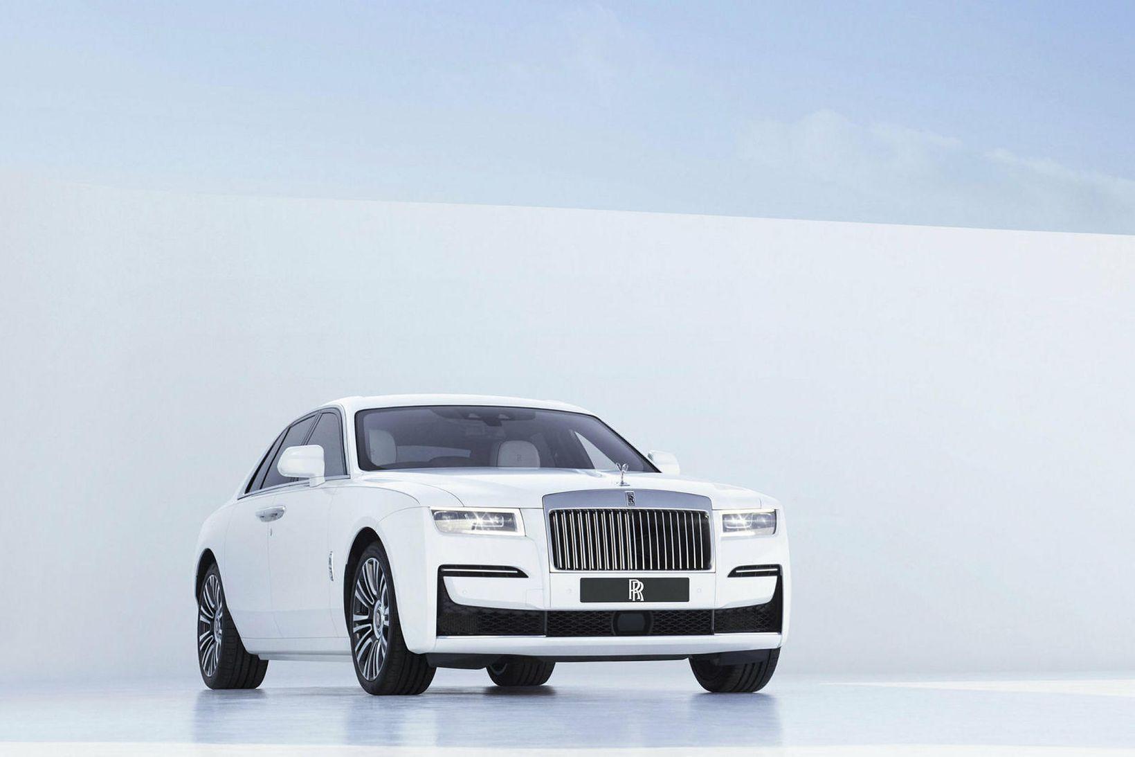 """Stúdíómynd sem Rolls-Royce sendi frá sér í gær af """"Ghost""""."""