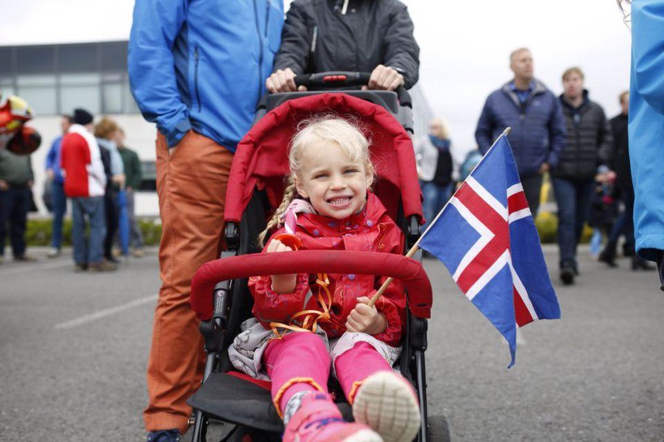 Frá hátíðarhöldum í Hafnarfirði.