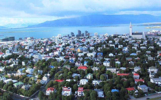Horft yfir Reykjavík.