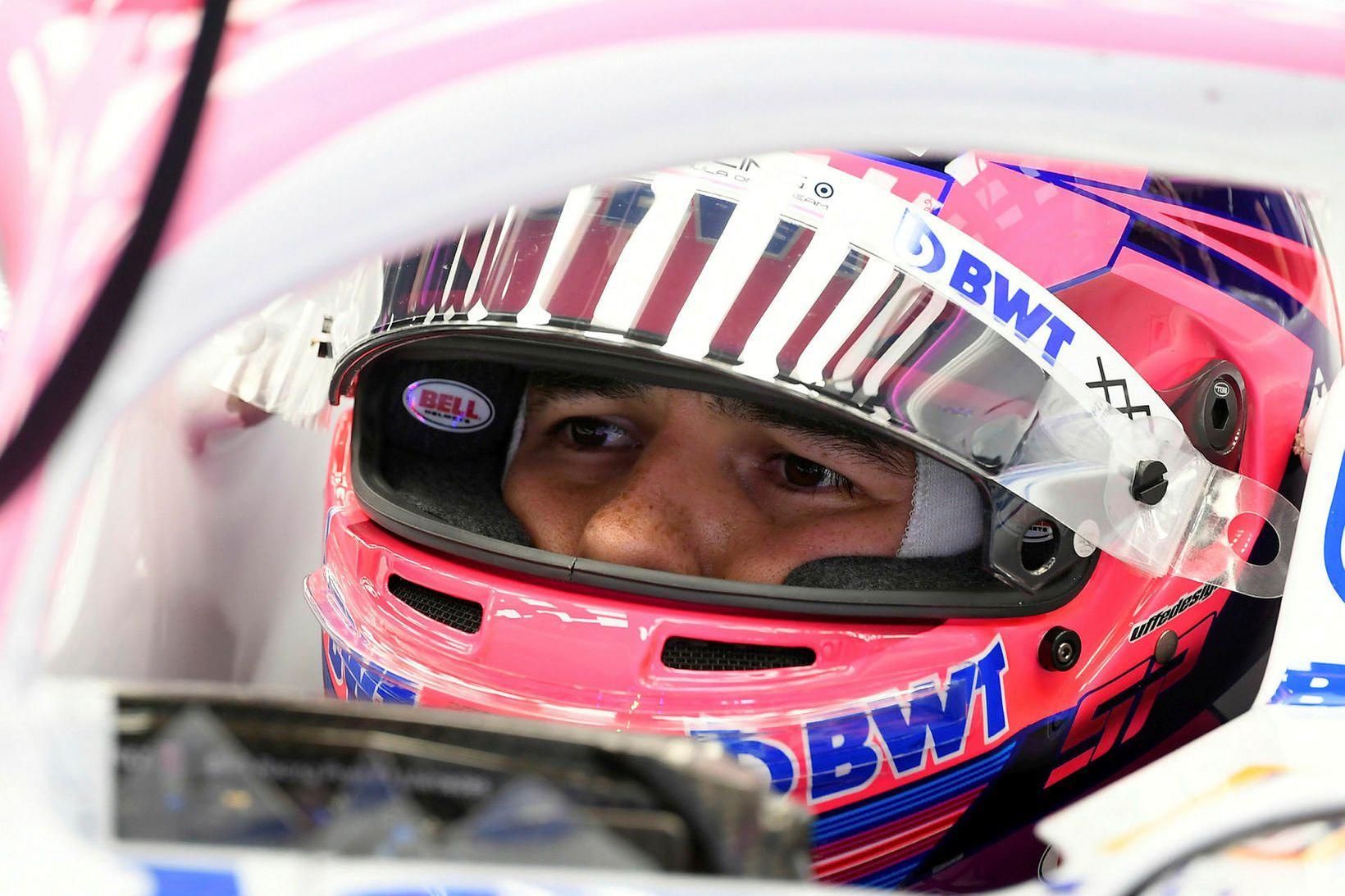Sergio Perez missir af breska kappakstrinum í Silverstone þar sem …