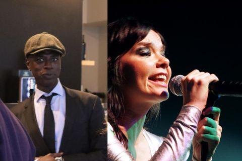 Alex Jallow og Björk Guðmundsdóttir hafa sést saman að undanförnu.