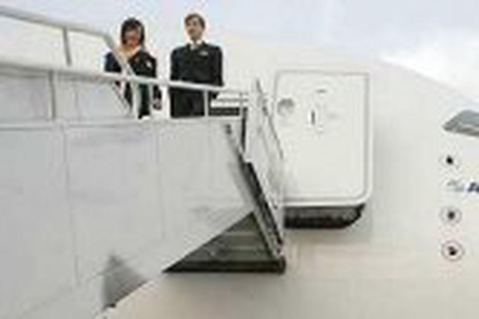 Stærsta farþegaþota heims, A380, í Bandaríkjunum fyrir skömmu.