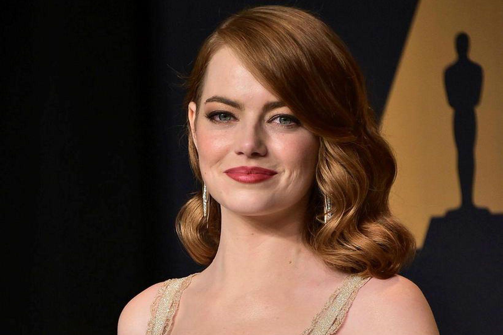 Emma Stone og unnusti hennar David McCary sáust með eins …