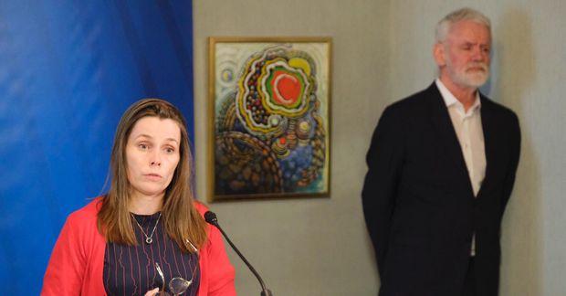 Katrín Jakobsdóttir forsætisráðherra og Kári Stefánsson.