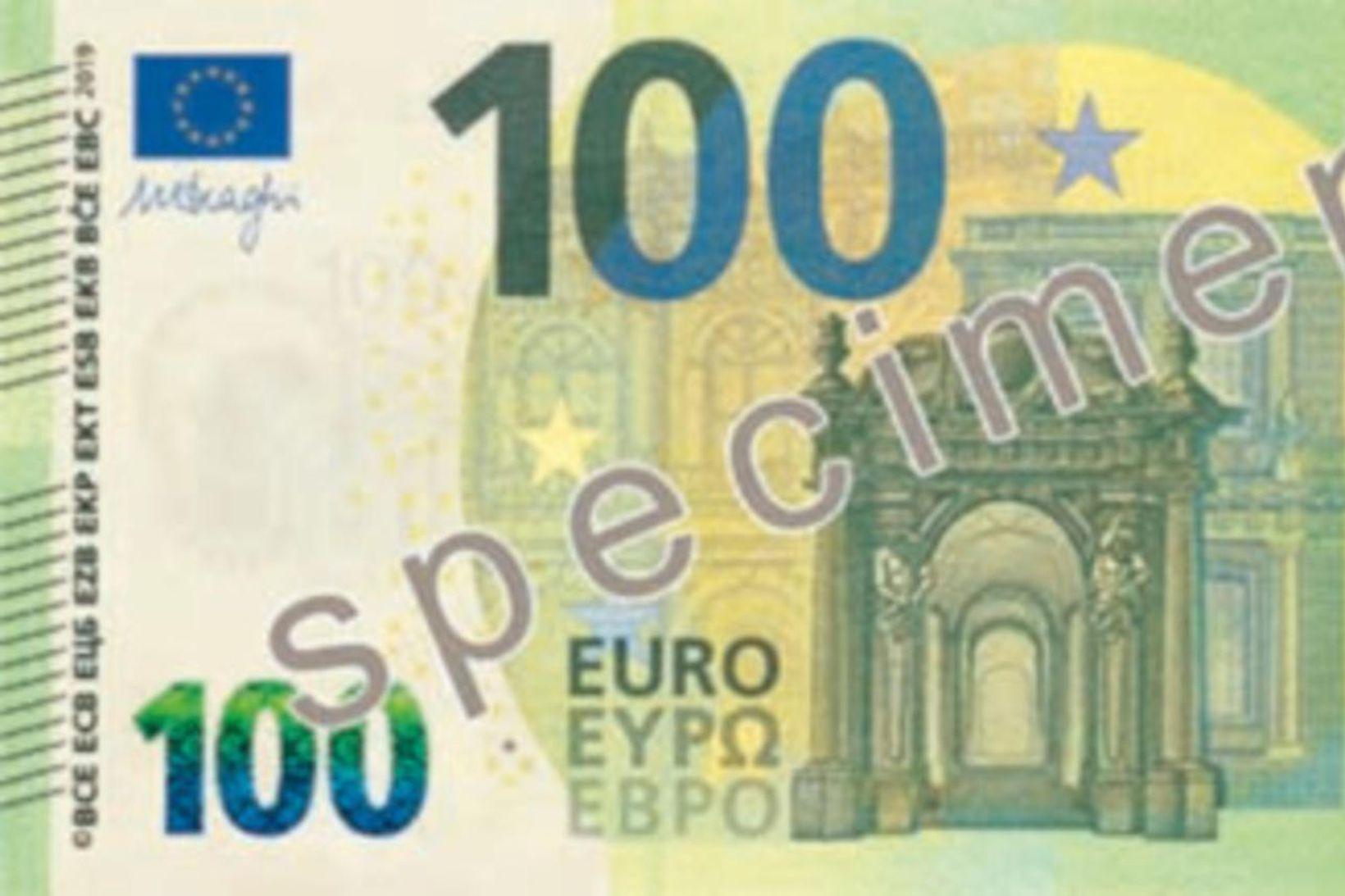 100 evrur.