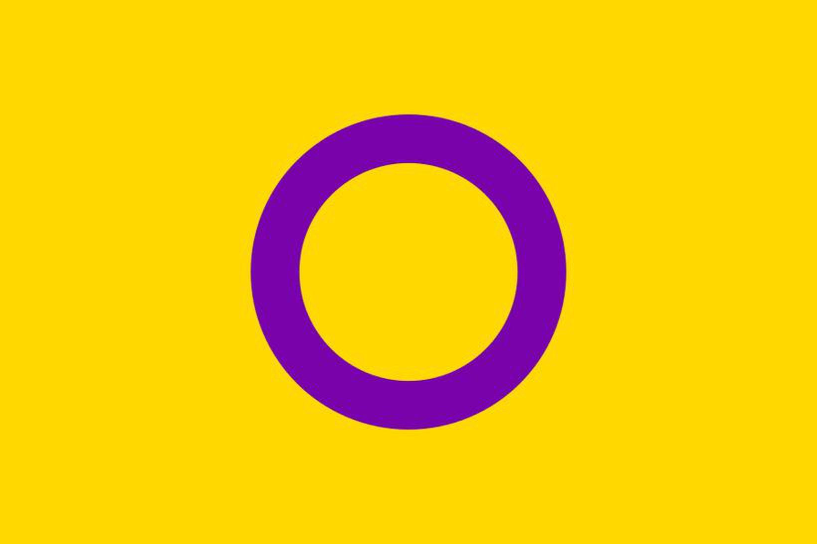 Fáni intersex fólks var búinn til af sambærilegum sam Intersex …
