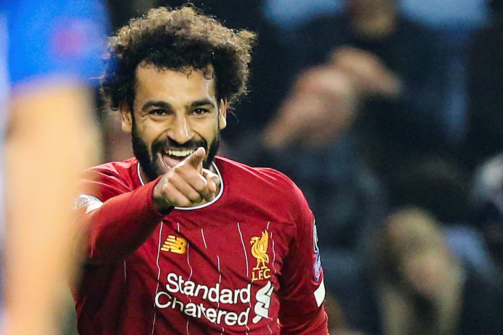 Mohamed Salah var á skotskónum með Liverpool í vikunni.