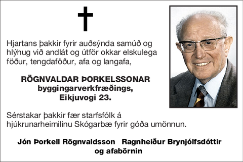 Rögnvaldar Þorkelssonar