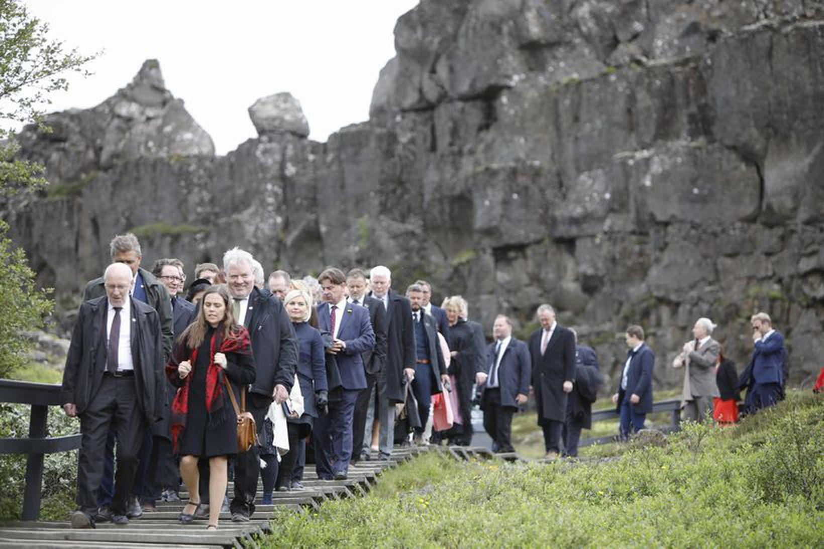 Hátíðarfundur á Þingvöllum 18. júlí 2018.