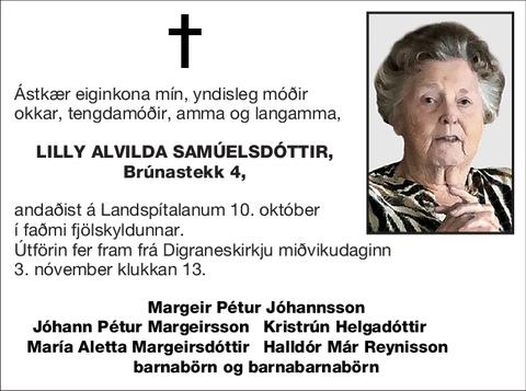 Lilly Alvilda Samúelsdóttir,