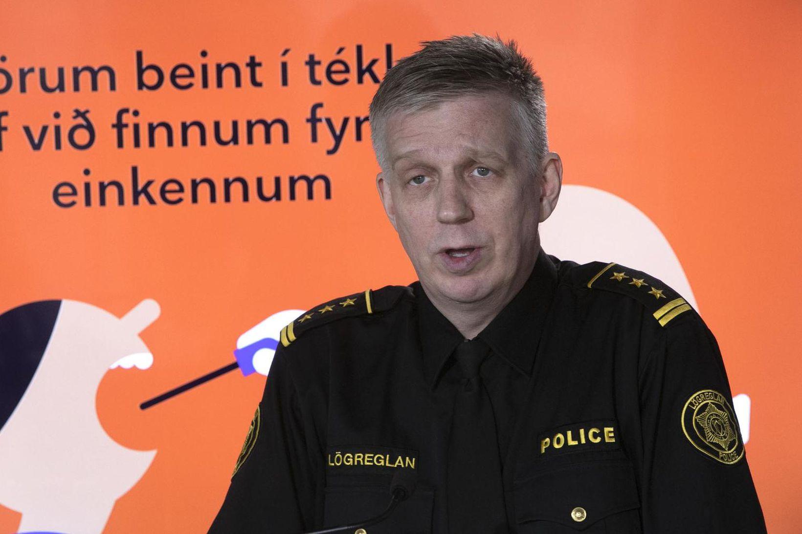 Víðir Reynisson yfirlögregluþjónn.