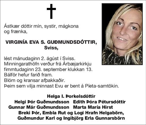 Virginía Eva S. Guðmundsdóttir,