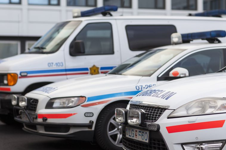 The incident occurred at Snorrabraut in the city centre.