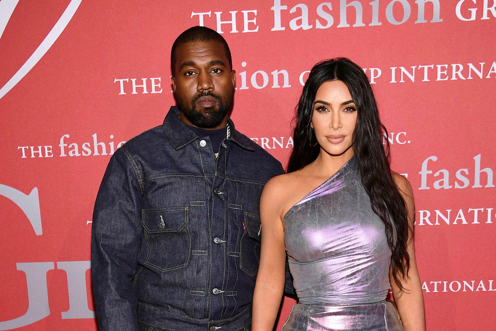 Kanye West og Kim Kardashian eiga fjögur börn saman og …