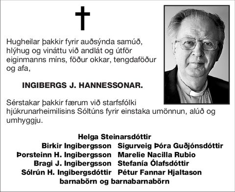 Ingibergs J. Hannessonar.