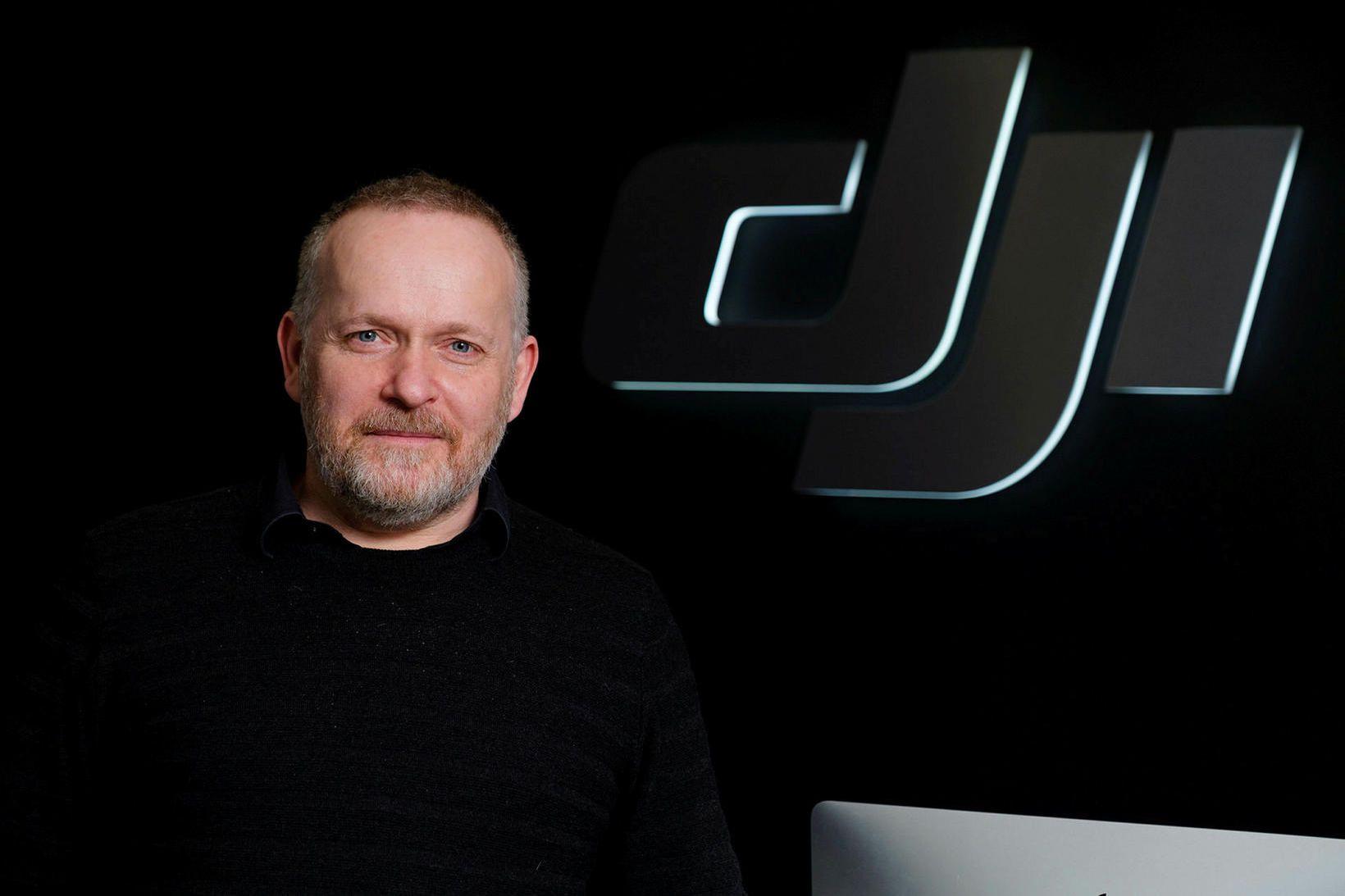 Sigurður Þór Helgason opnaði verslun DJI á Íslandi árið 2017.