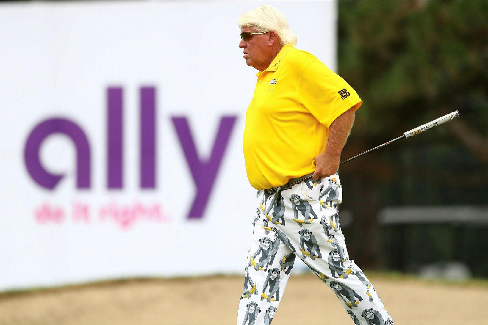John Daly mætir ávallt skemmtilega klæddur á golfmót.