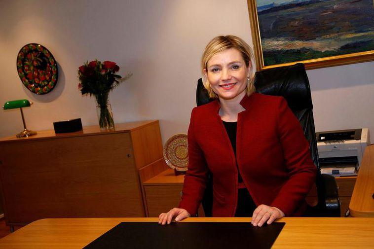 Foreign Minister Lilja Alfreðsdóttir.