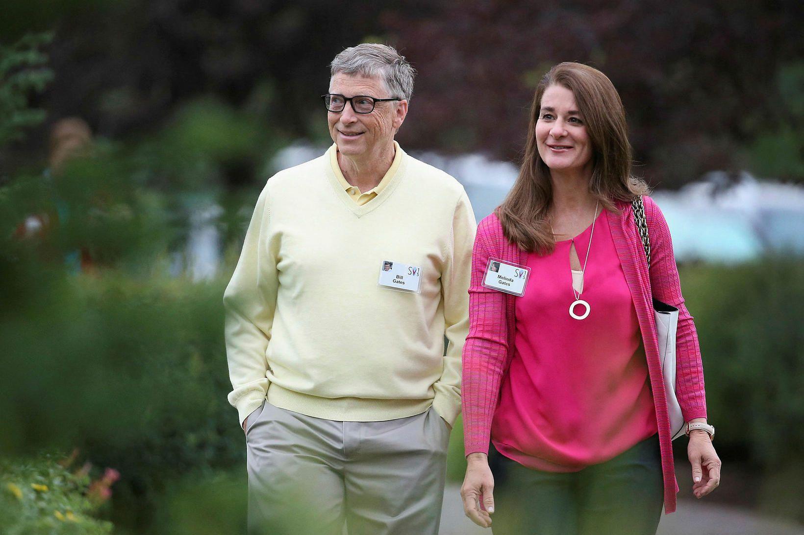 Bill og Melinda Gates árið 2015.