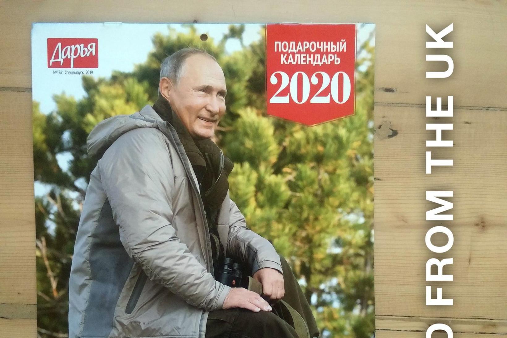 Í dagatalinu fyrir árið 2020 er Pútín nokkuð hófsamari en …