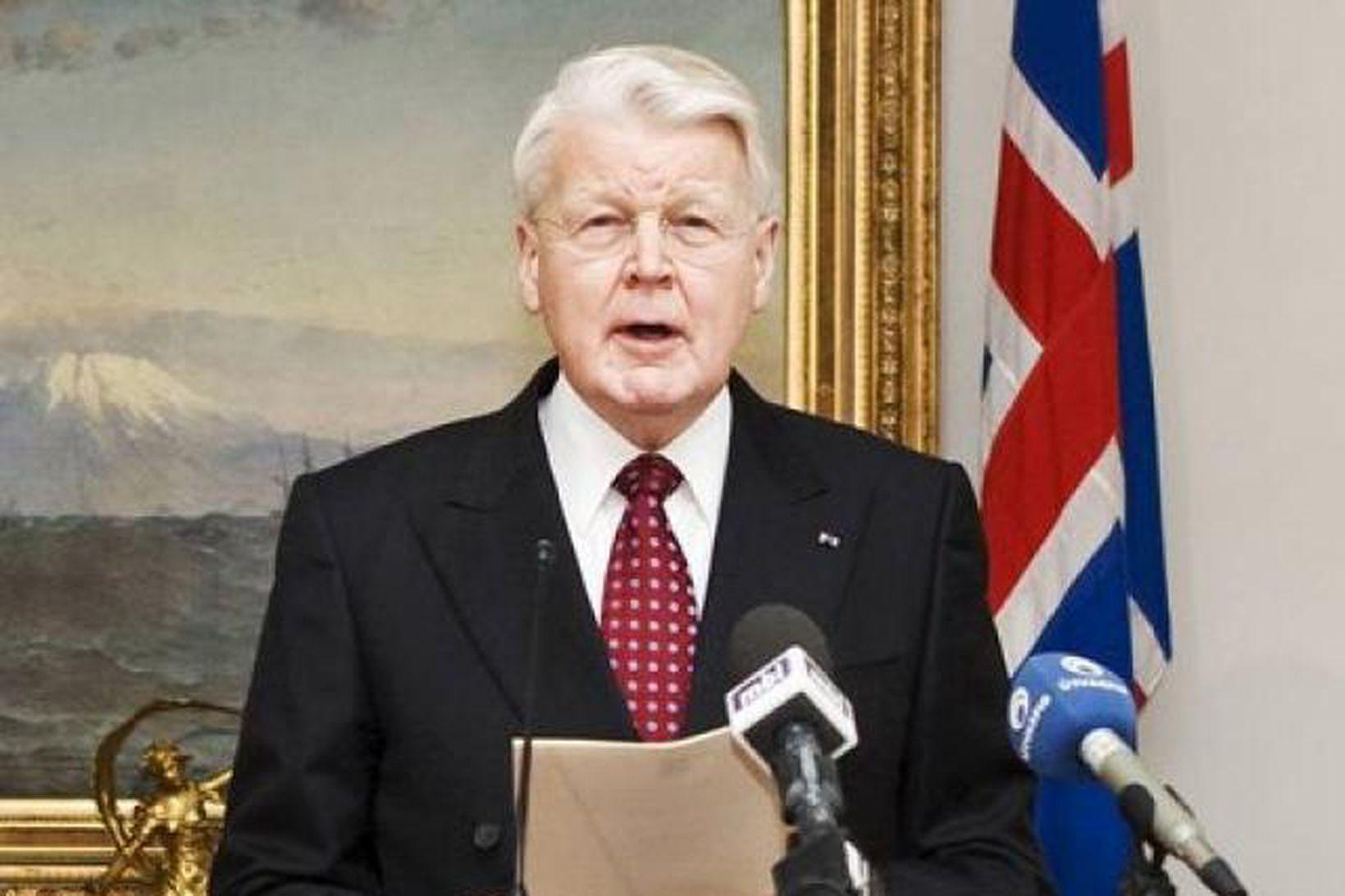 Ólafur Ragnar Grímsson forseti Íslands.