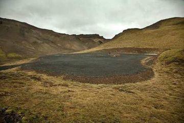 Borteigur við Trölladyngju er yfir 3.000 fermetrar. Holuna reyndist ekki hægt að virkja.