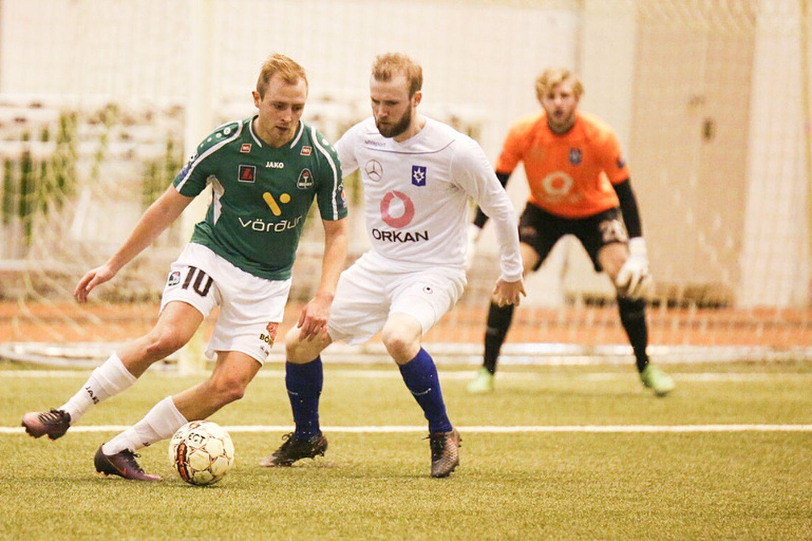 Martin Lund Pedersen skoraði tvö fyrir Blika í kvöld.