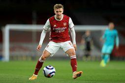 Martin Ødegaard í leik með Arsenal í apríl.